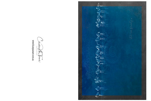 Greeting Card Series - Blue, We Are Family