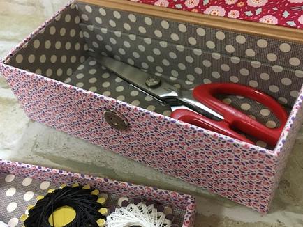 道具を入れるシンプルな箱
