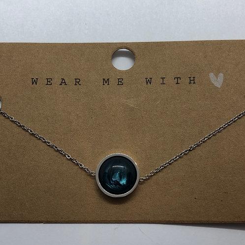 Silver bracel'it & ocean blu