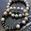 Thumbnail: Bracel'its - set of 2 silver lava beads black touch