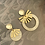 Thumbnail: It's assymetrical - peach resin golden fan