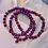 Thumbnail: Bracel'its - set of 3 metallic purple