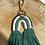 Thumbnail: Extra's - macramé key chain green rainbow