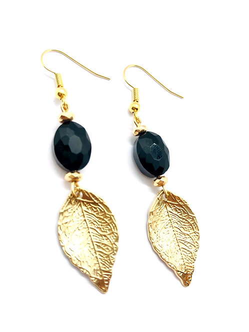 It's gold - golden leafs & black pearl
