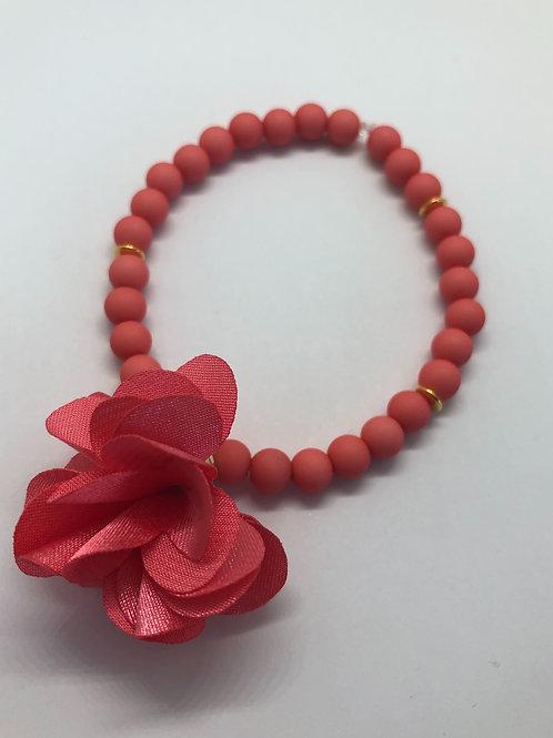 Bracel'its - flamingo pink & flower