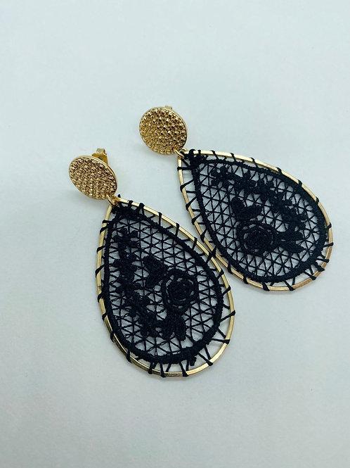 It's gold - black lace