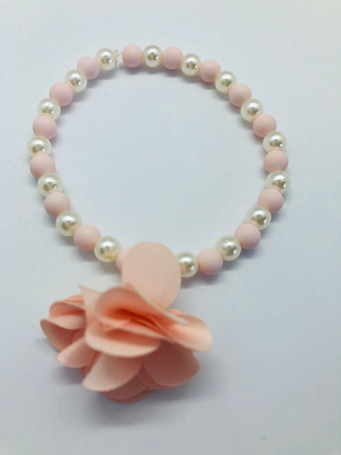 Bracel'its - white & baby pink & flower