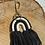 Thumbnail: Extra's - macramé key chain black rainbow