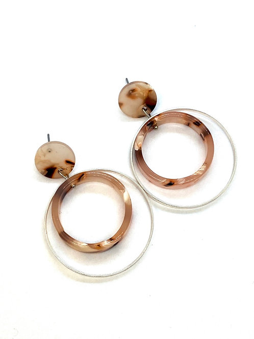 It's resin - turning silver hoops