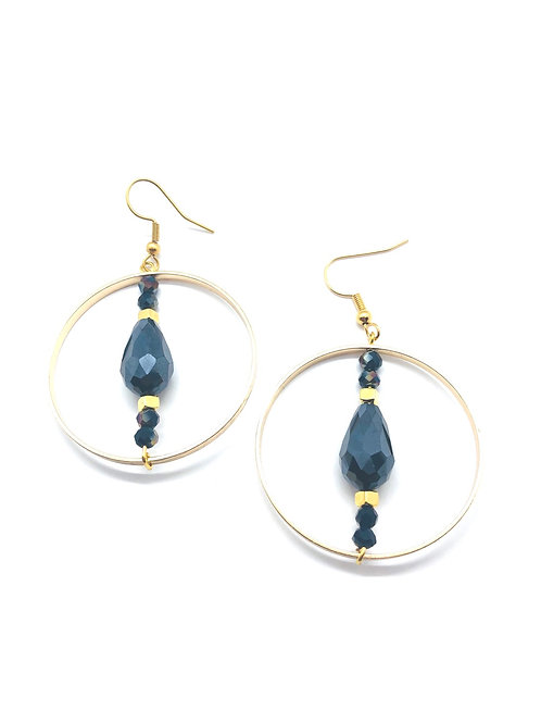 It's gold - royal blue golden hoops