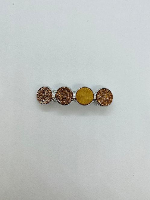 Haarspeld S - brique & gold