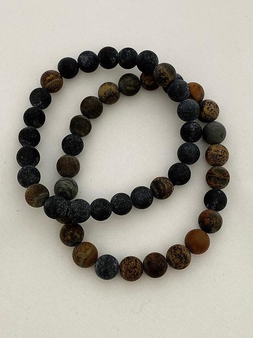 Bracel'its - set men blue-brown matt