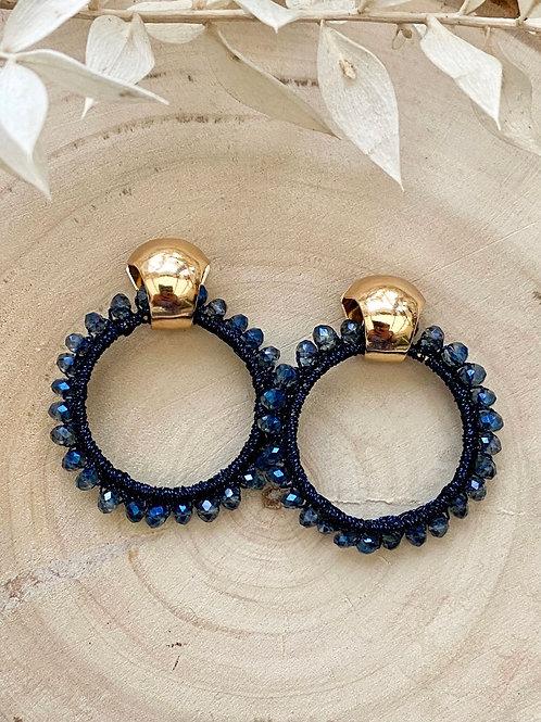 It's gold - blue beads circle