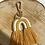 Thumbnail: Extra's - macramé key chain yellow rainbow