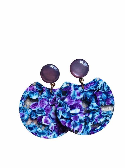 It's resin - purple violets