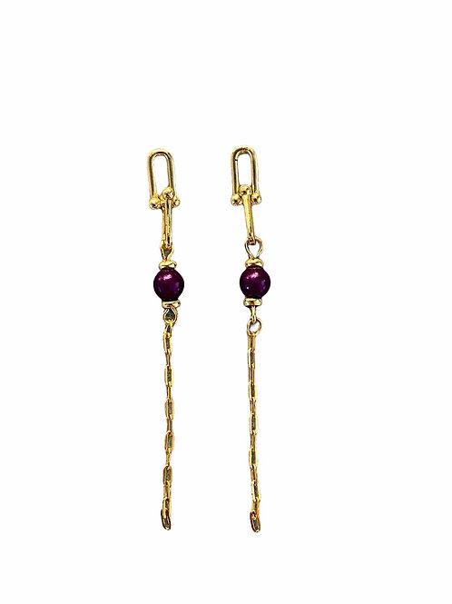 It's gold - metallic purple drop in chains