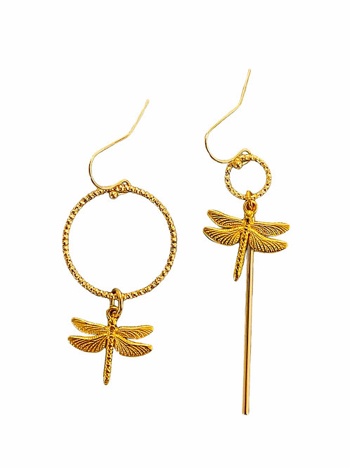 It's assymetrical - golden dragonfly
