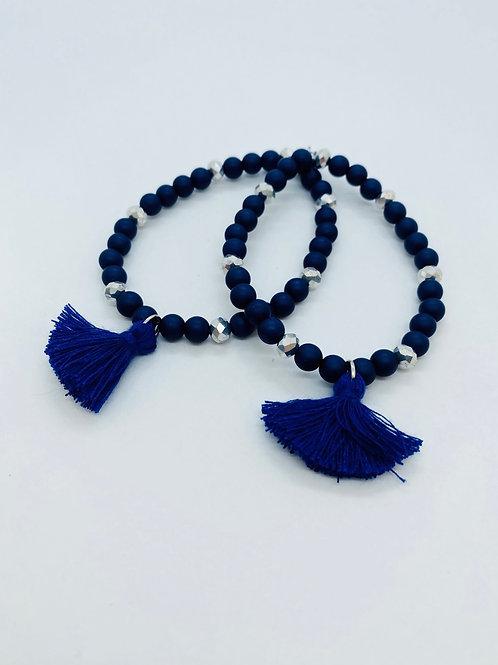 Bracel'its - set 2 dark blue & silver