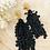 Thumbnail: It's black - black lace & golden leaf