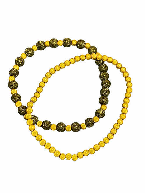 Bracel'its - fluo duo metallic yellow