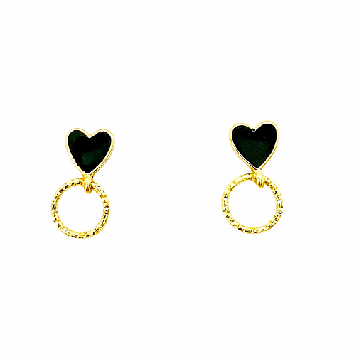 It's gold - lil black heart