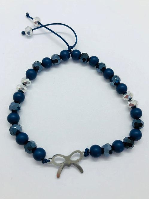 Bracel'its - mat en shiny blue & silver