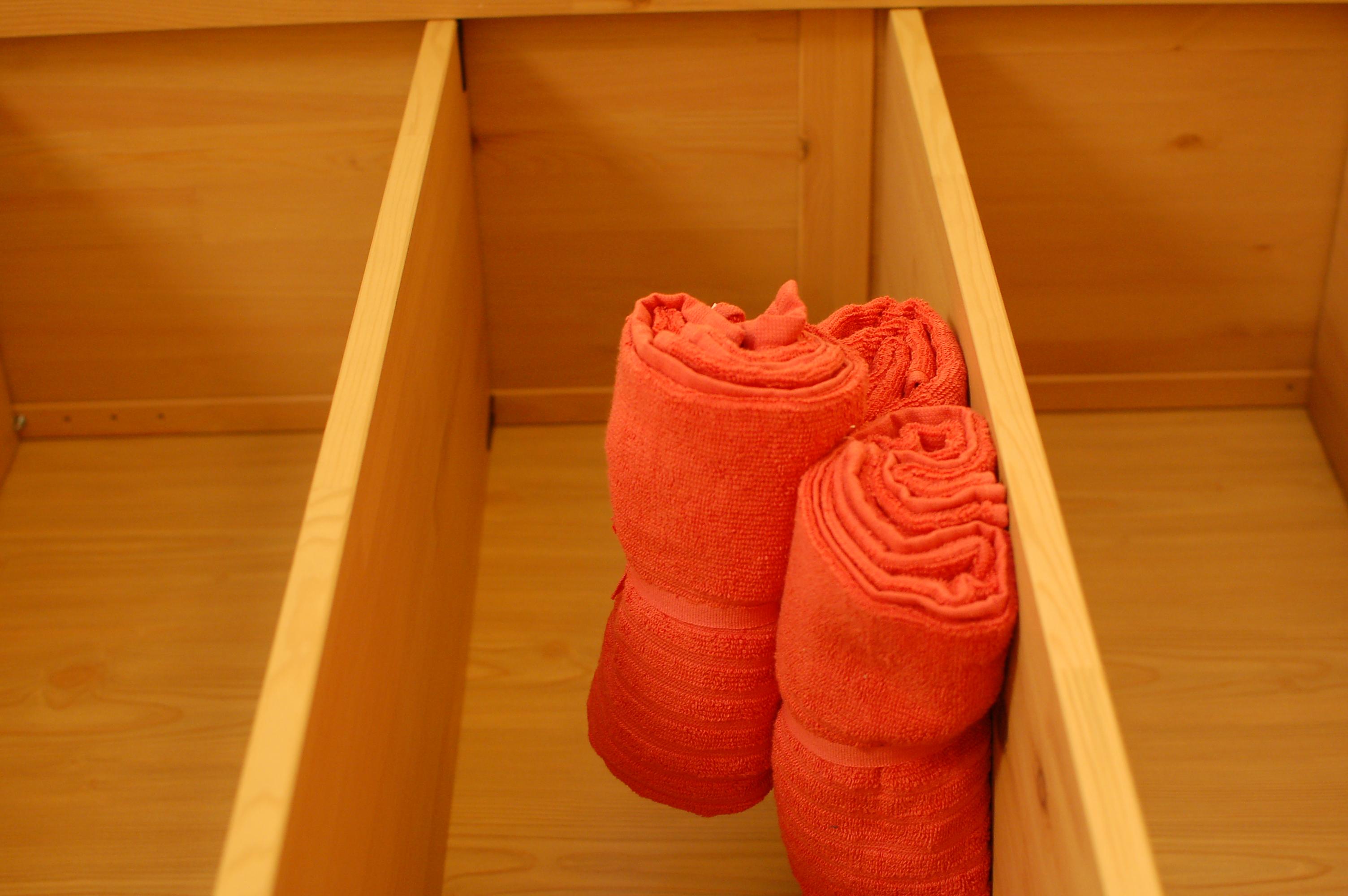 ručníky k dispozici