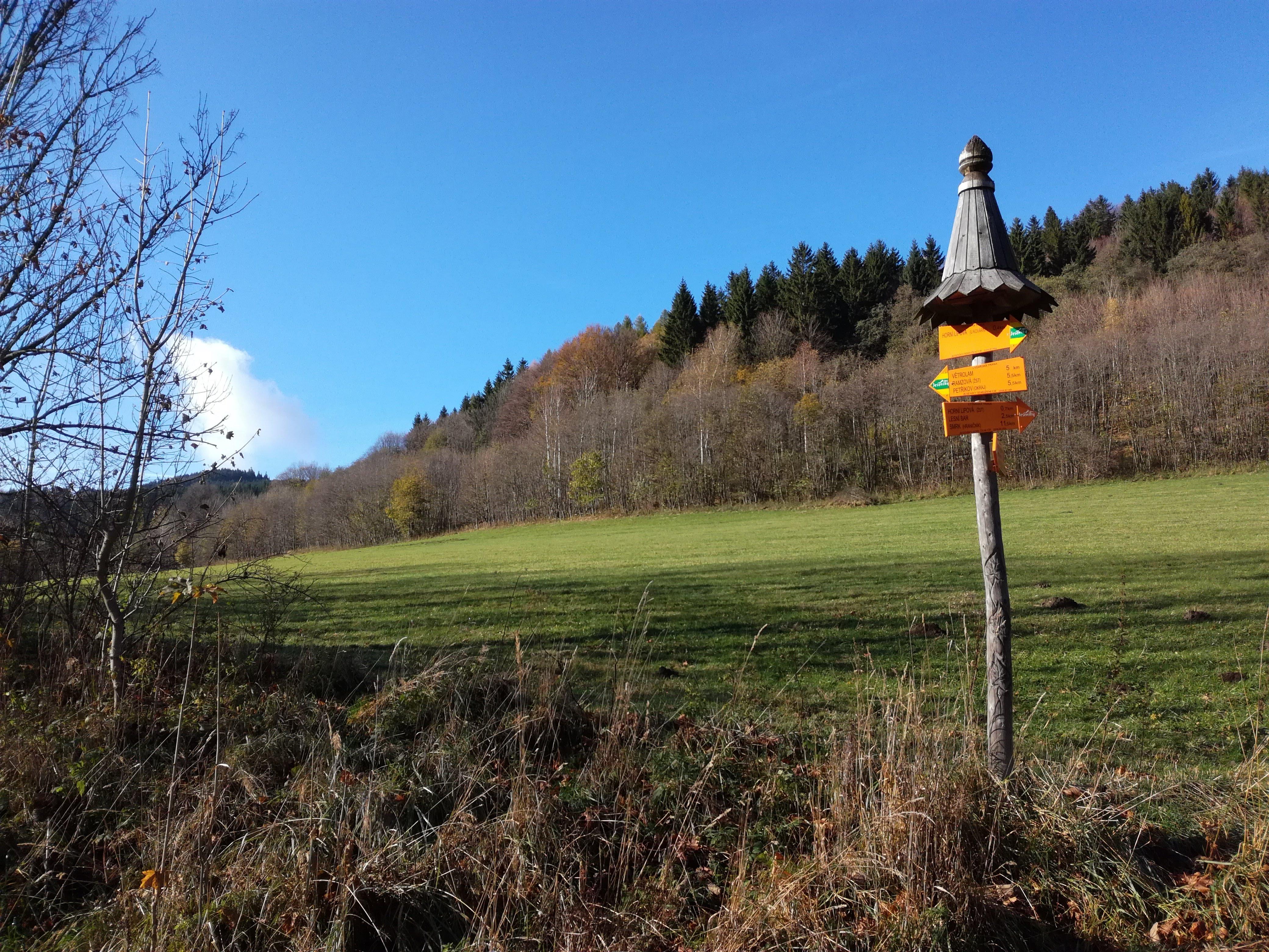 běžkařská trasa za domem