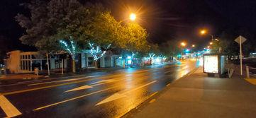 West Coast Rd, Glen Eden's Main-street at night.