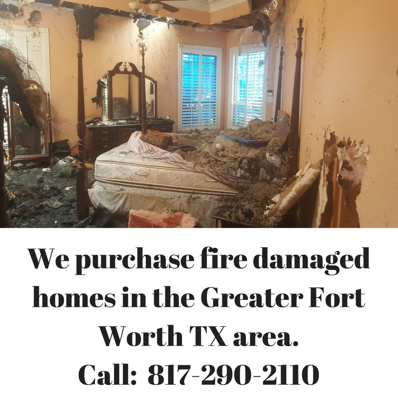 We purchase fire damaged homes