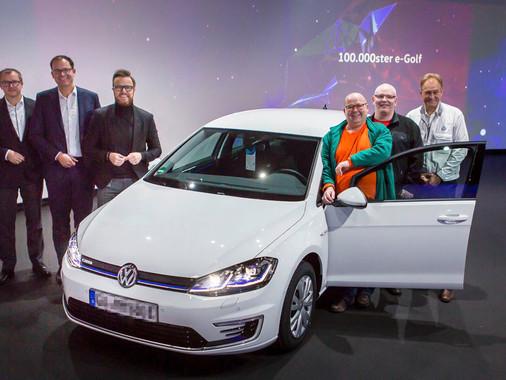 Volkswagen entrega 100.000º e-Golf!