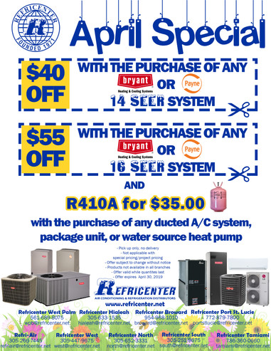Flyer for Refricenter