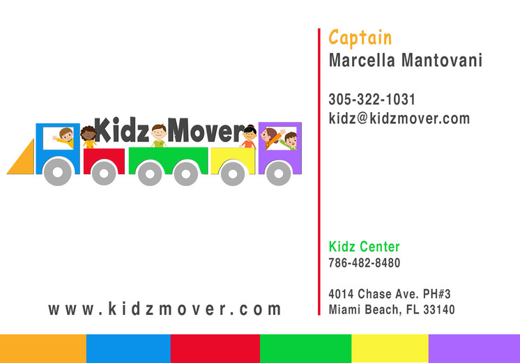 Kidz Mover business card