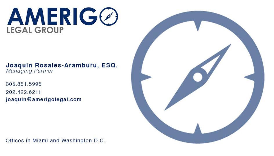 Business Card for Amerigo Legal