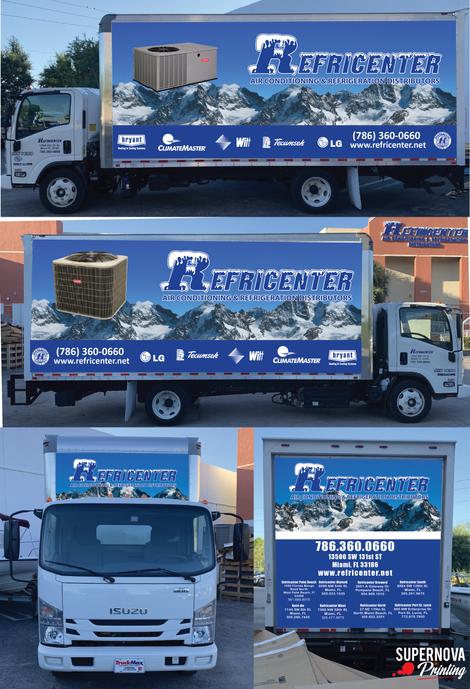 Truck wrap design for Refricenter