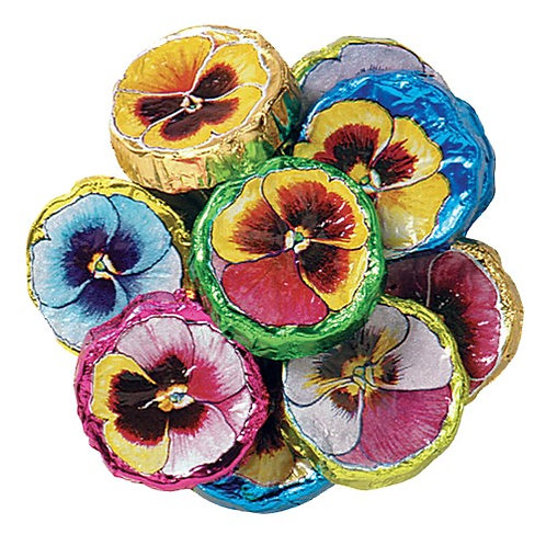 Foil-Wrapped Pansies