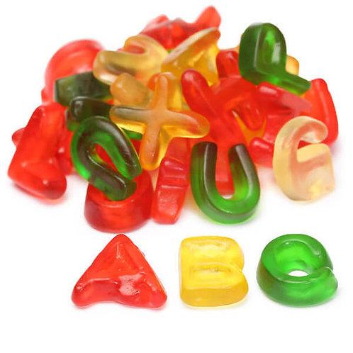Gummy Alphabet Letters