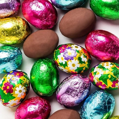 Foil-Wrapped Chocolate Eggs