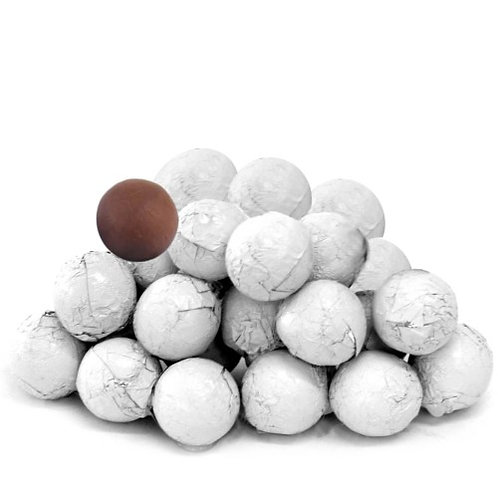 Foil-Wrapped Chocolate Balls