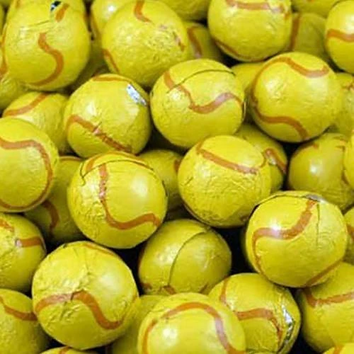 Foil-wrapped Chocolate Tennis Balls