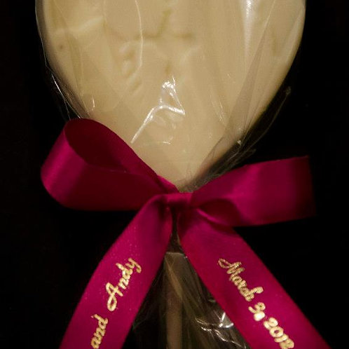 Bride and Groom Heart Lollipop