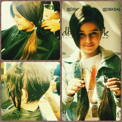 Donating her hair today! #siblinglove #beauty #fcancer #allgrownup