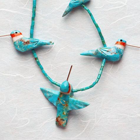 Hummingbird fetish necklace
