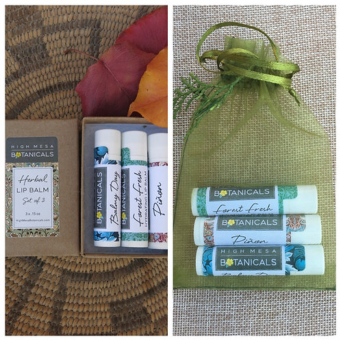 Herbal Lip Balm Trio Gift Set