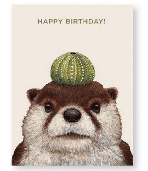 Othello The Otter Birthday Card By Vicki Sawyer