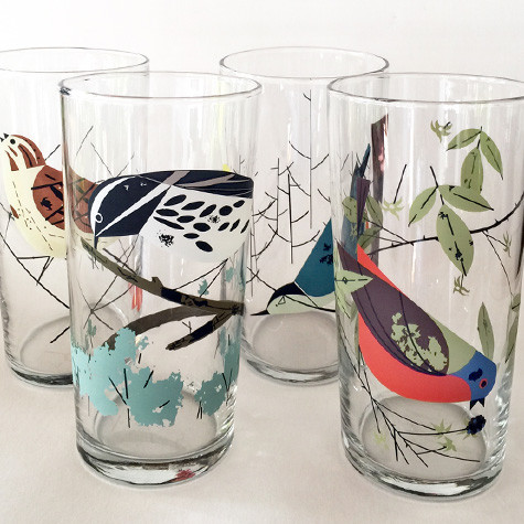 The Fat Finch Has A Special Love For All Things Charley Harper And We Re Delighted To Have This Glware Based On S Work Images Gles