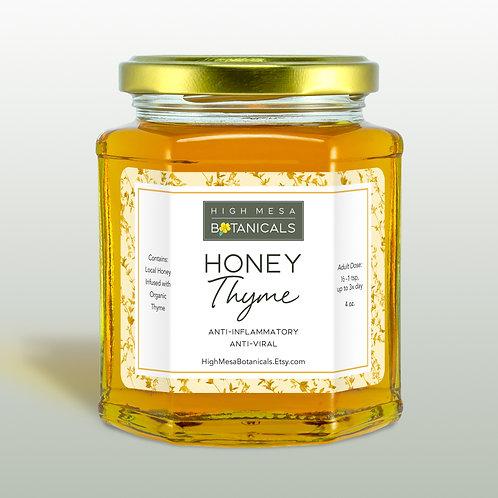 Honey Thyme - Thyme Infused Honey, Antiviral, Herbal Honey