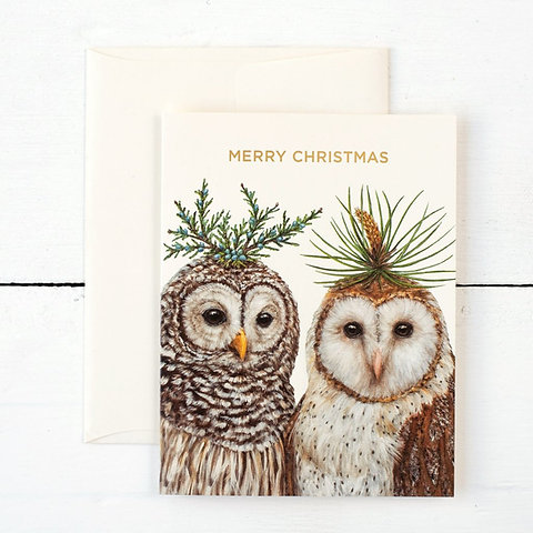 Christmas Notecards.Winter Owls Christmas Notecards Boxed Set By Vicki Sawyer