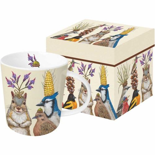 Party Snacks Porcelain Mug By Vicki Sawyer