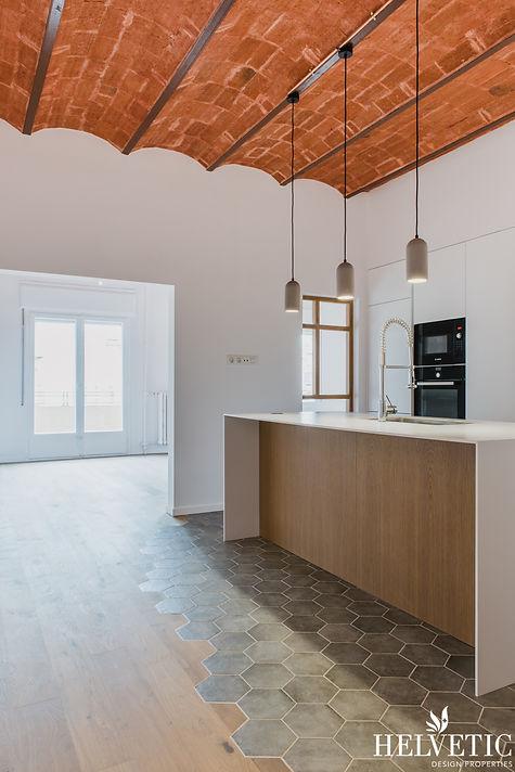 Reforma de cocina moderna con bóveda modernista